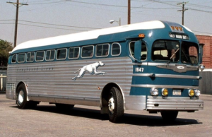Greyhound lines bus