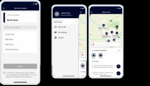Architecture multi-territoires : l'usager peut sélectionner son territoire en 1 clic dans l'application