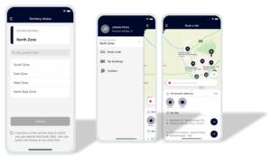 Multigebiets-Architektur: Mit einem Klick kann der Nutzer sein Gebiet in der Mobilitätsapp auswählen.