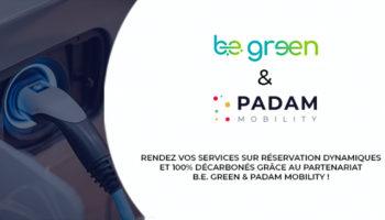 Partenariat Padam Mobility et Be green